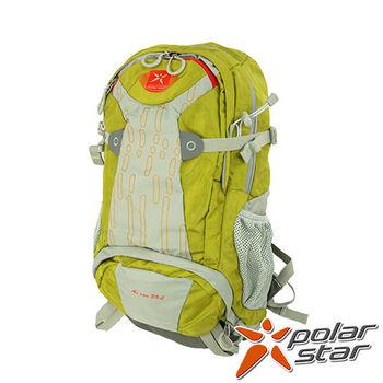 PolarStar 透氣後背包|登山背包 35L (附背包防水套)『綠』 P15817