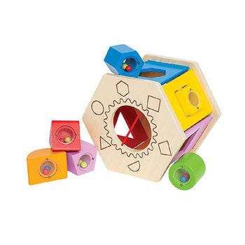【德國Hape愛傑卡】六角分類積木盒