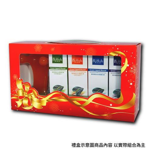 【碧荷柏】暖冬MSM關護禮盒(經典藍+涼感綠+溫感橘+花香紫)+贈按摩舒服狗