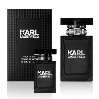 【KARL LAGERFELD】卡爾同名時尚男性淡香水50ml(加贈品牌小香)
