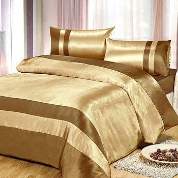RODERLY 絲羽流金-絲緞壓花 單人三件式被套床包組