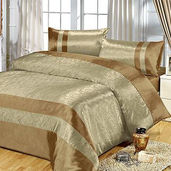 RODERLY 碧草如茵-絲緞壓花 加大四件式被套床包組