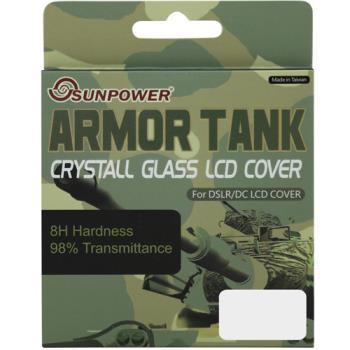 SUNPOWER 防爆水晶玻璃硬式保護貼- (SONY A850 專用)