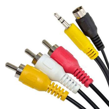 電腦專用 S端子7PIN+3.5MM to RCA 影音傳輸線(1.5米)