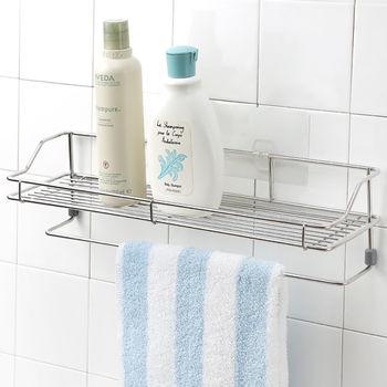 《舒適屋》無痕貼系列-不鏽鋼浴室毛巾置物架
