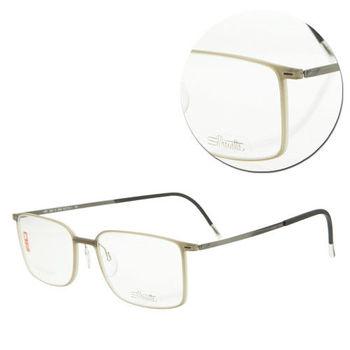【Silhouette 詩樂】SPX輕型復古淺咖啡光學眼鏡(SPX2884-61-6060)