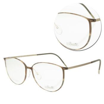 【Silhouette 詩樂】SPX橢圓全框玳瑁光學眼鏡(SPX1558-40-6055)