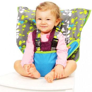 美國My Little Seat可攜式嬰兒安全座椅套-藍色小魚