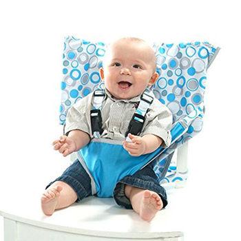 美國My Little Seat可攜式嬰兒安全座椅套-水藍圈圈