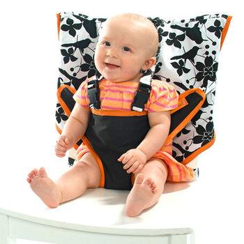美國My Little Seat可攜式嬰兒安全座椅套-經典黑白