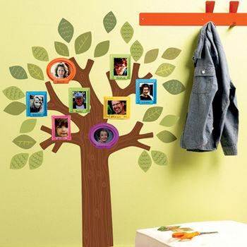 美國Wallies無痕童趣壁貼-溫馨家庭樹