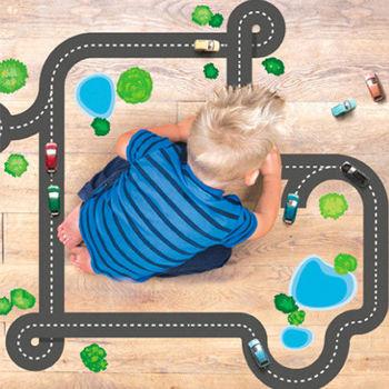 美國Wallies無痕童趣壁貼-高速公路