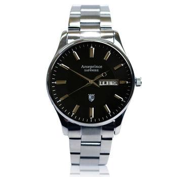 【Arseprince】復刻回憶雙日顯示腕錶-黑色