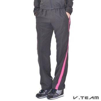 V.TEAM-防潑水風衣長褲-女-黑