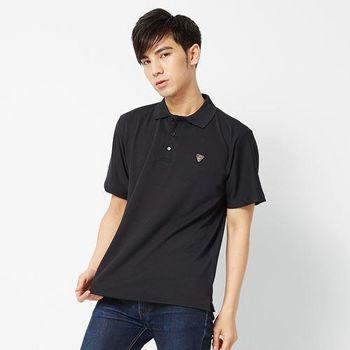 V.TEAM-型男素面吸排POLO衫-黑