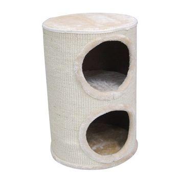 【PET SWEET】貓跳台-頂級玩家-雙層圓桶屋(PW-139)