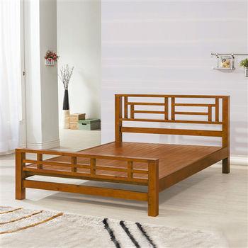 【時尚屋】[UZ6]豐陽樟木6尺加大雙人床UZ6-104-2不含床頭櫃-床墊