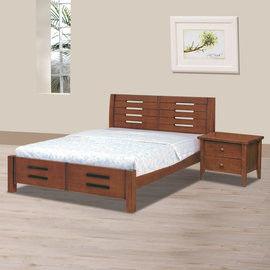【時尚屋】[UZ6]馨妮淺胡桃色6尺加大雙人床UZ6-103-8不含床頭櫃-床墊
