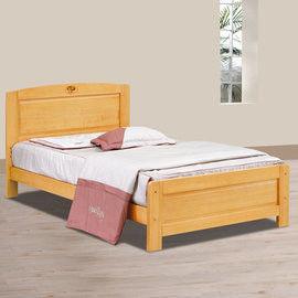 【時尚屋】[UZ6]歌莉雅檜木3.5尺加大單人床UZ6-97-2不含床頭櫃-床墊