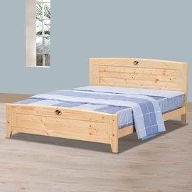 【時尚屋】[UZ6]北歐松木5尺雙人床UZ6-96-4不含床頭櫃-床墊