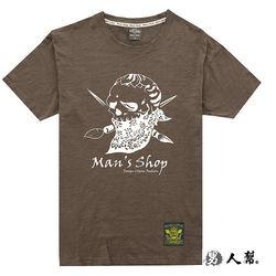 美式骷樓竹節布短袖T恤東森購物旅遊(T1210)