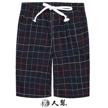 【男人幫】K0409*潮流格紋【吸溼快乾英倫格紋短褲】海灘褲 /衝浪褲