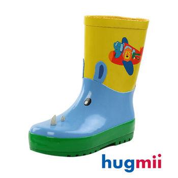 【hugmii】童趣造型兒童橡膠雨鞋 動物園