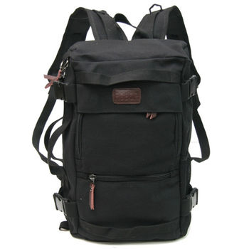 MAKSIM 多功能潮流後背包.帆布側背包.旅行袋.平板電腦包(1029黑)