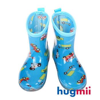 【hugmii】滿圖造型兒童果凍雨鞋_車車