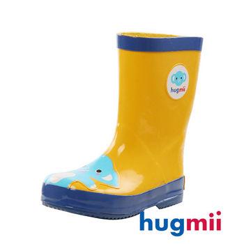 【hugmii】童趣造型兒童橡膠雨鞋 大象