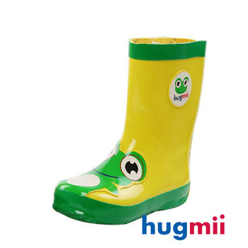 【hugmii】童趣造型兒童橡膠雨鞋 青蛙
