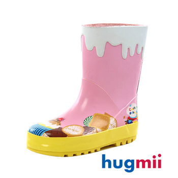 【hugmii】童趣造型兒童橡膠雨鞋 蛋糕