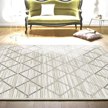 范登伯格 艾希米亞格紋風類亞麻地毯-菱紋-200x290cm