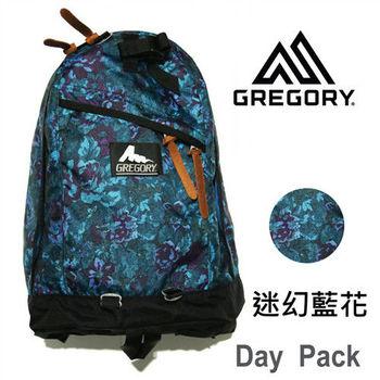 【美國Gregory】Day Pack日系休閒後背包26L-迷幻藍花