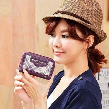 【金安德森】溫柔甜心 拉鍊式卡片零錢包