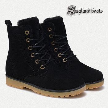 【JAR嚴選】England boots 英倫風 男女款 麂皮 內加絨 雪地靴#男款