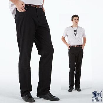 【NST Jeans】390(5376) 黑魔法 純黑色系列 休閒長褲(中腰)男裝/牛仔褲/褲子/休閒褲/長褲/工作褲