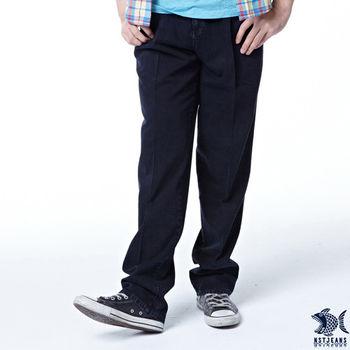 【NST Jeans】002(8826)洗紋刷色斜袋牛仔長褲 (中高腰寬版)