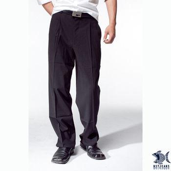 【NST Jeans】002(8845)WL深層黑系列西裝褲 (中高腰寬版)
