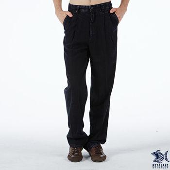 【NST Jeans】002(8846) 原色天絲棉 打摺牛仔長褲 (中高腰寬版)