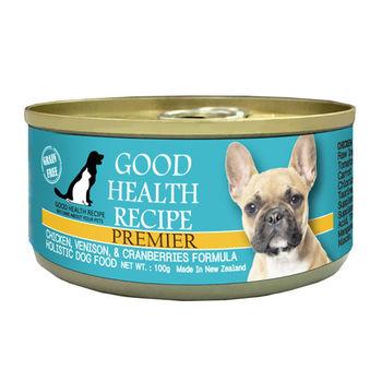 【PREMIER】健康主義 GHR犬用雞肉鹿肉蔓越莓配方主食 犬罐 100G x 24入