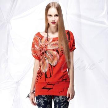 【CHENG DA】春夏專櫃精品女裝時尚短袖長版上衣 NO.101122 (現貨+預購)