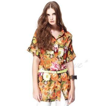 【CHENG DA】春夏專櫃精品女裝時尚短袖長版上衣 NO. 101503(現貨+預購)