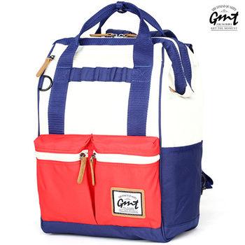【GMT挪威潮流品牌】時尚大容量後背包 (藍白紅-混色)