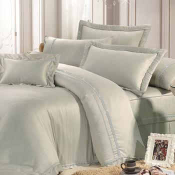 Lily Royal 300織 頂級天絲 雙人四件式被套床包組-卡其