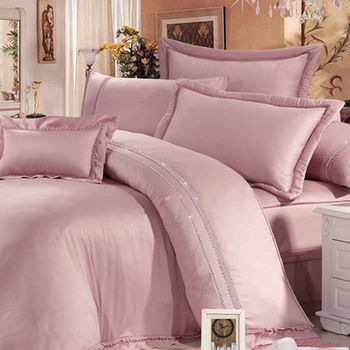 Lily Royal 300織 頂級天絲 雙人四件式被套床包組-豆沙