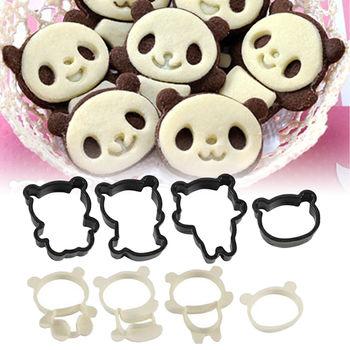 日本Arnest創意料理小物-可愛熊貓餅乾模型