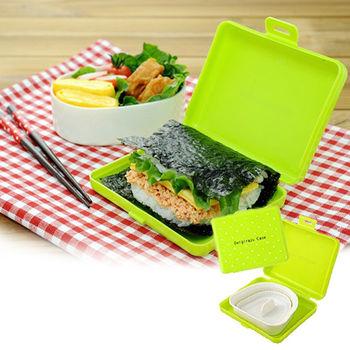 日本Arnest創意料理小物-握飯糰模具盒(翠綠)