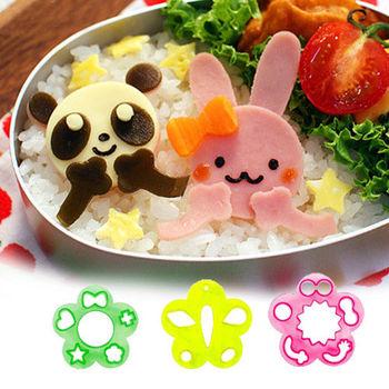 日本Arnest創意料理小物-火腿蔬菜造型壓模