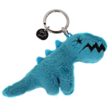 agnes b. SPORT b.恐龍鑰吊飾匙圈/藍綠